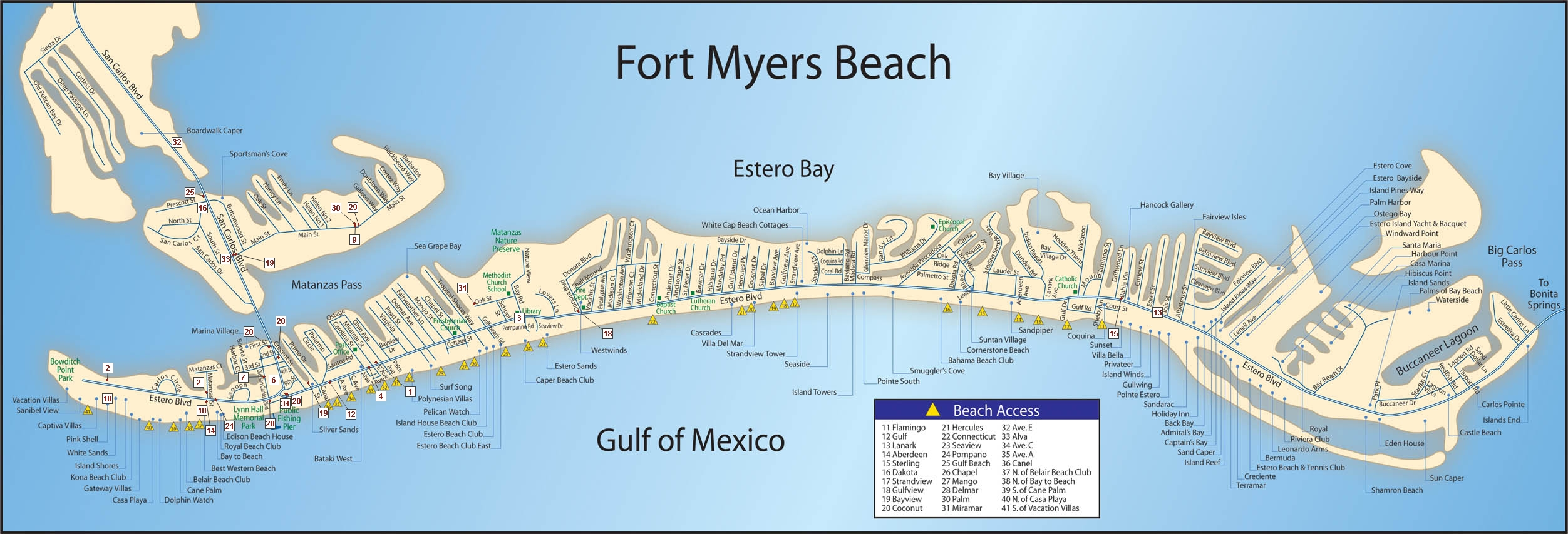 Ft Myers Beach Map